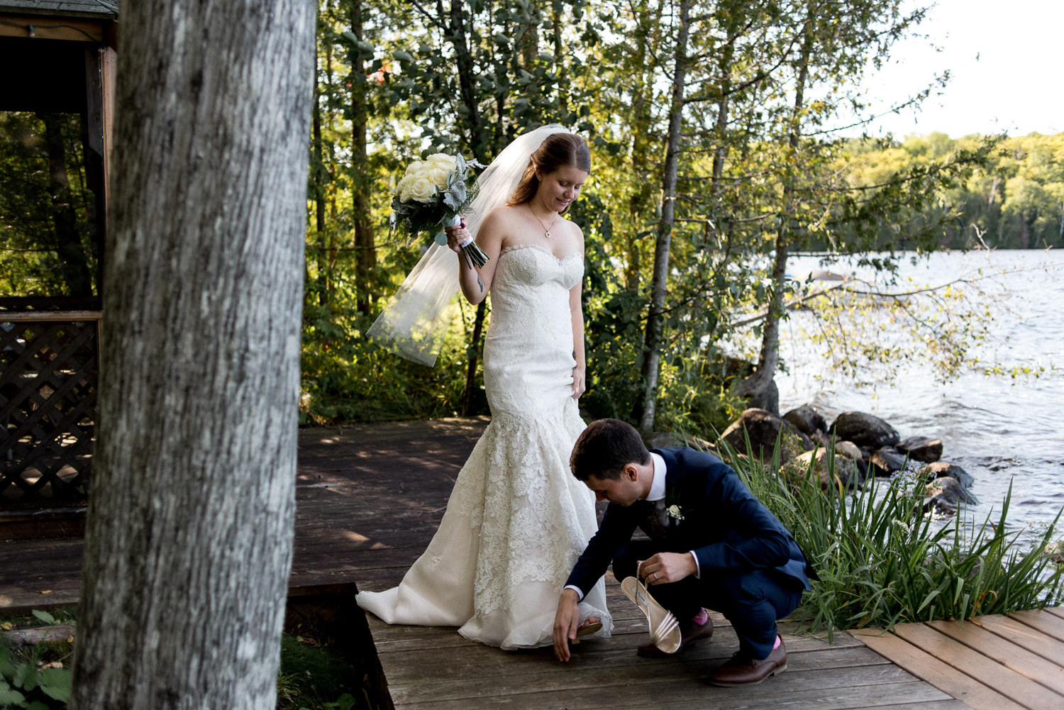 cottage country wedding photo