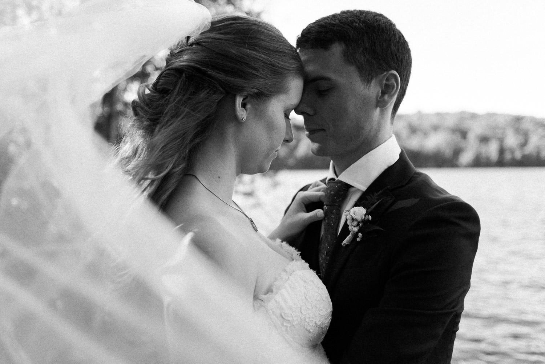 bride and groom veil photo