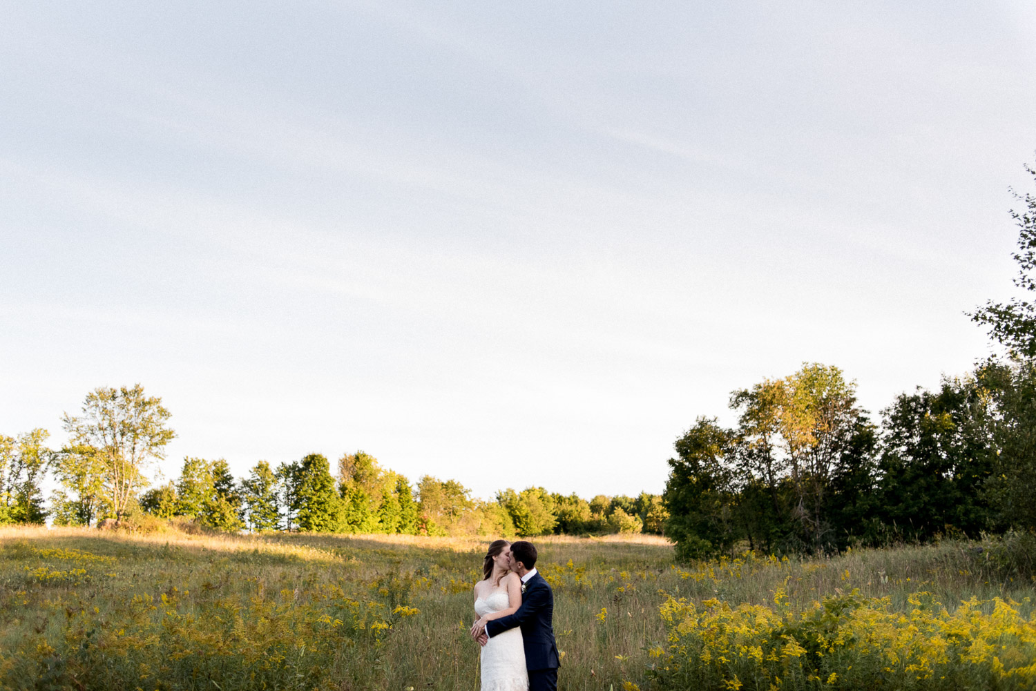 intimate ontario cottage wedding